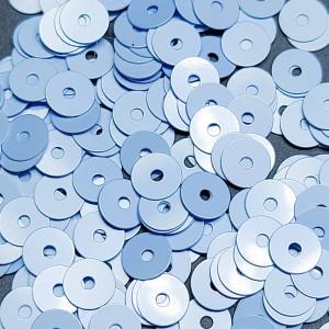 Пайетки Италия плоские фарфоровые 3мм Цвет Azzurro