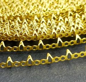 Оправа для кристаллов и кабошонов, безель ленточная оправа окантовка 10 см Цвет золото