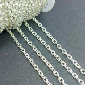 Цепь фигурная 3*2мм, цвет серебро