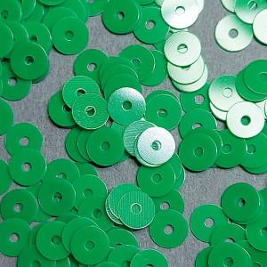 Пайетки Италия плоские фарфоровые 3мм Цвет Verde