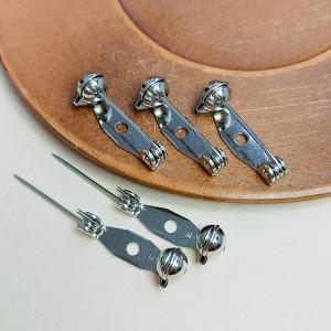 Основа для броши 20мм Безопасная застежка, цвет серебро, Япония