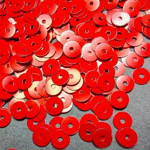 Пайетки Италия плоские фарфоровые 3мм Цвет Rosso