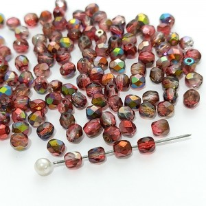 Fire polished 4mm Crystal Magic Wine
