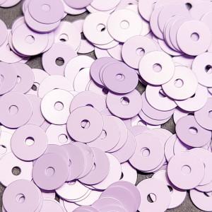 Пайетки Италия плоские фарфоровые 3мм Цвет Lilla