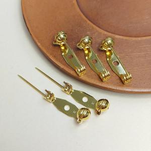 Основа для броши 20мм Безопасная застежка, цвет золото, Япония