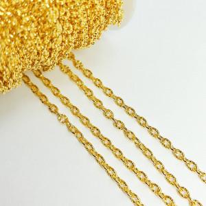 Цепь фигурная 3*2мм, цвет Золото