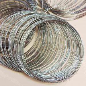 Проволока с памятью 4 см, толщина 0,6мм, цвет серебро