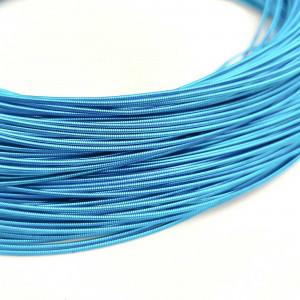Канитель жесткая 1мм Голубая