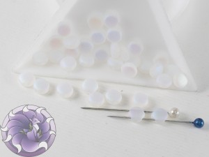 DiscDuo® Beads 6 x 4 mm Crystal Full AB Matted