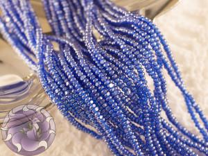 Бисер шарлотка 13/0 на нитке TR.MED.BLUE LUSTERED