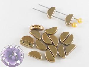 Semi Circle Beads 5x10 mm Metallic Mix