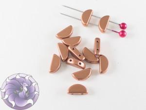 Semi Circle Beads 5x10 mm Vintage Copper