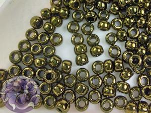 Бисер 5г TOHO Round 8/0 Gold-Lustered Dk Antique Bronze TR-08-422