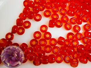Бисер 5г TOHO Round 8/0 Transparent Siam Ruby TR-08-5B