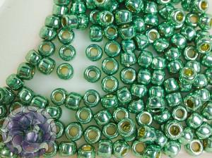 Бисер 5г TOHO Round 8/0 PermaFinish - Galvanized Jade Green TR-08-PF589