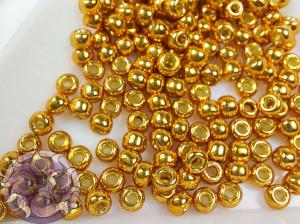 Бисер 5г TOHO Round 8/0 PermaFinish - Galvanized Old Gold TR-08-PF591
