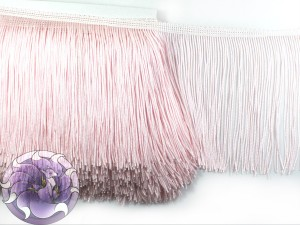 Тесьма бахрома 15см Светло розовая