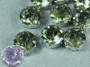 Шатон 6мм цвет 102 Black diamond оправа серебро