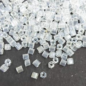 Бісер 5г TOHO - Hexagon 11/0 Transparent-Lustered Crystal