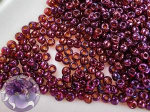 Бисер 5г TOHO Round 11/0 Gold-Lustered Raspberry TR-11-332