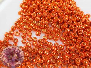 Бисер 5г TOHO Round 11/0 PermaFinish - Galvanized Saffron TR-11-PF562
