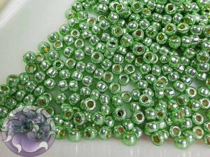 Бисер 5г TOHO Round 11/0 PermaFinish - Galvanized Mint Green TR-11-PF570