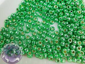Бисер 5г TOHO Round 11/0 PermaFinish - Galvanized Green Apple TTR-11-PF587