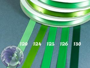 Лента атласная 6 мм Зеленая палитра