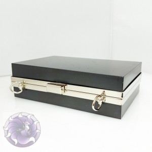 Фермуар каркасный рамочный, клатч бокс Прямоугольник 18*12см серебро