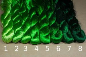Шелковые нитки для вышивки, мулине шелк №1