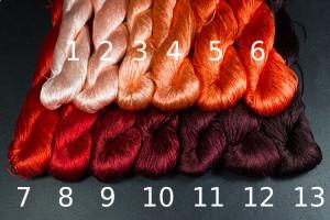 Шелковые нитки для вышивки, мулине шелк №3