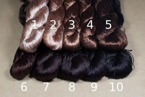 Шелковые нитки для вышивки, мулине шелк №6