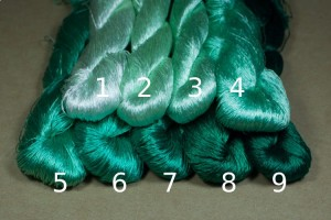 Шелковые нитки для вышивки, мулине шелк №16