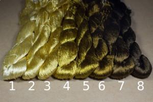 Шелковые нитки для вышивки, мулине шелк №21