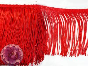 Тесьма бахрома 15см Красный