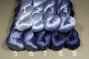 Шелковые нитки для вышивки, мулине шелк №22