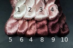 Шелковые нитки для вышивки, мулине шелк №24