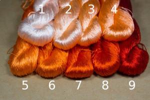 Шелковые нитки для вышивки, мулине шелк №26