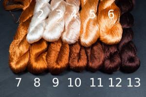 Шелковые нитки для вышивки, мулине шелк №30