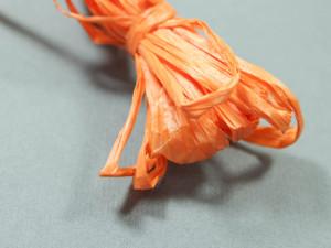 Рафия для вышивки матовая 30мм Цвет Оранжевый