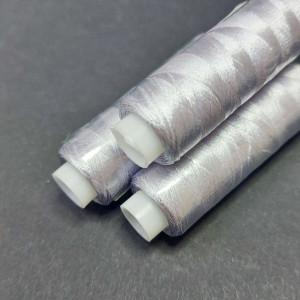 Нитки вискоза для вышивания Gamma 75/2 400м Под серебро
