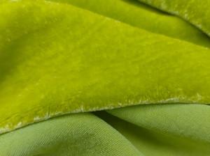 Шелковый бархат натуральный ручного окрашивания Цвет Желто салатовый