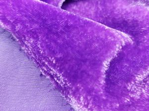 Шелковый бархат натуральный ручного окрашивания Цвет Фиолетовый