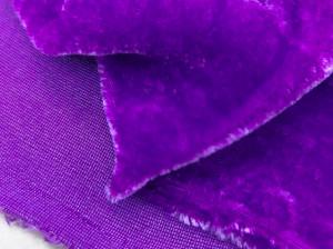 Шелковый бархат натуральный ручного окрашивания Цвет Темно-фиолетовый
