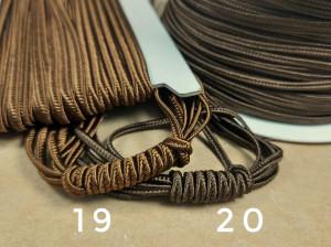 Итальянский сутажный шнур 3мм из Коричневой палитры