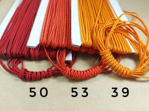 Итальянский сутажный шнур 3мм из Красно-оранжевая палитры