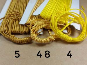 Итальянский сутажный шнур 3мм из Желтой палитры