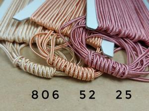 Итальянский сутажный шнур 3мм из Белой, пудра и бежевой палитры