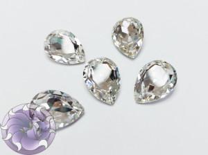 Кристалл Капля 18х13мм стекло К9 цвет Crystal