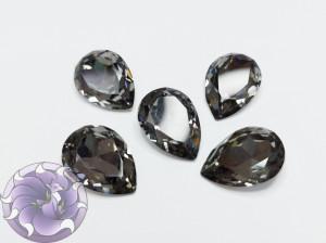 Кристалл Капля 18х13мм стекло К9 цвет Black Diamond